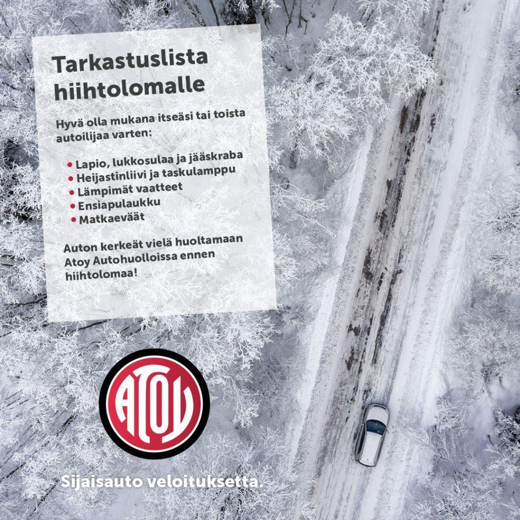 Vielä kerkeää huoltaa auton ennen hiihtolomaa!